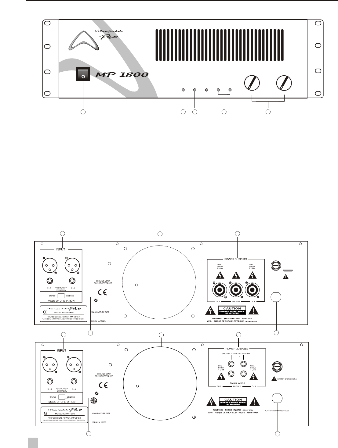 Page 4 of Wharfedale Stereo Amplifier MP 1200 User Guide