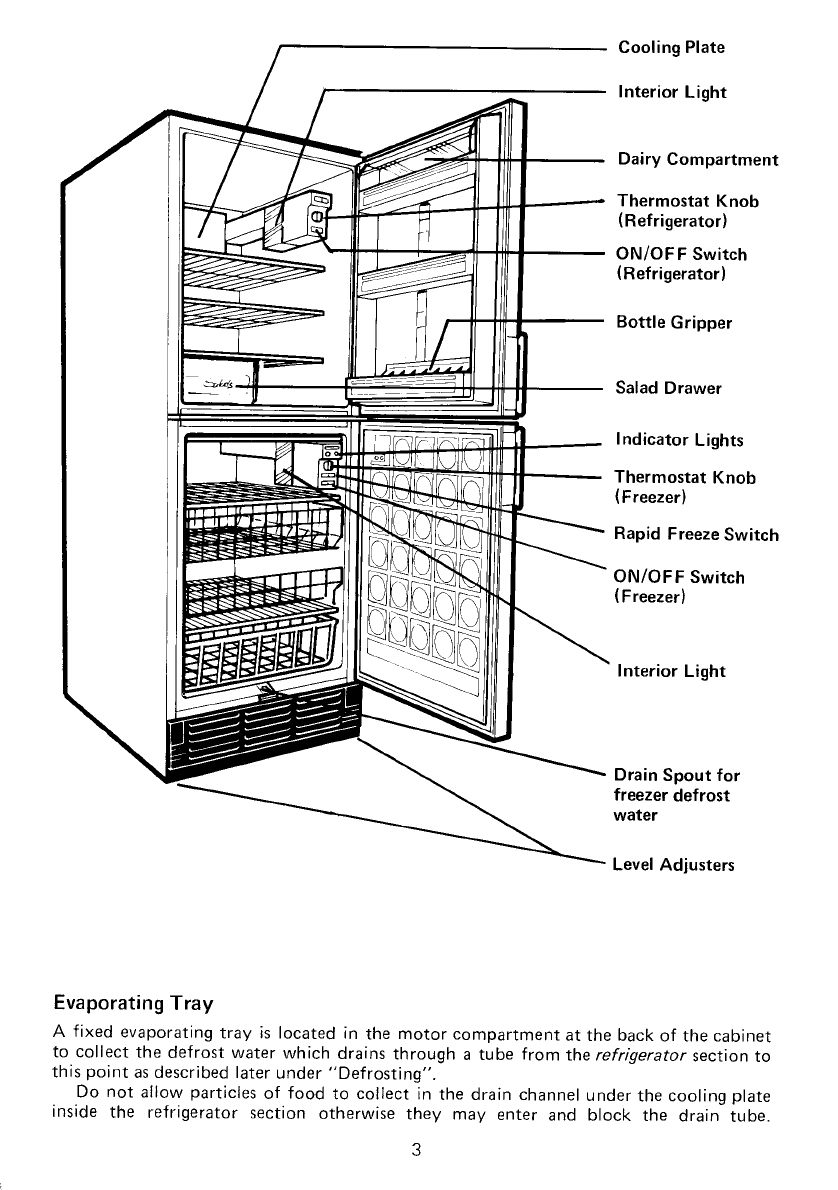 Page 3 of Electrolux Refrigerator TR1240 User Guide