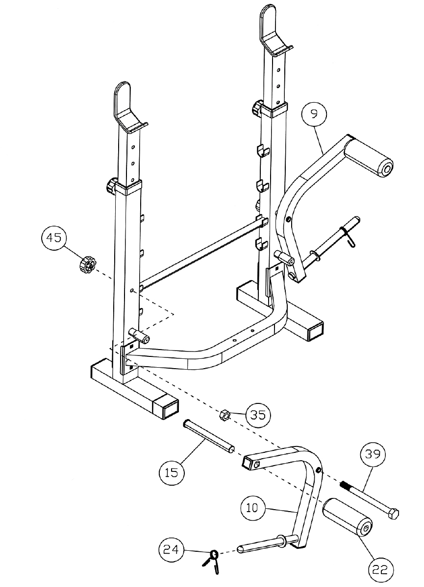 Page 11 of Impex Home Gym TSA-5682 User Guide