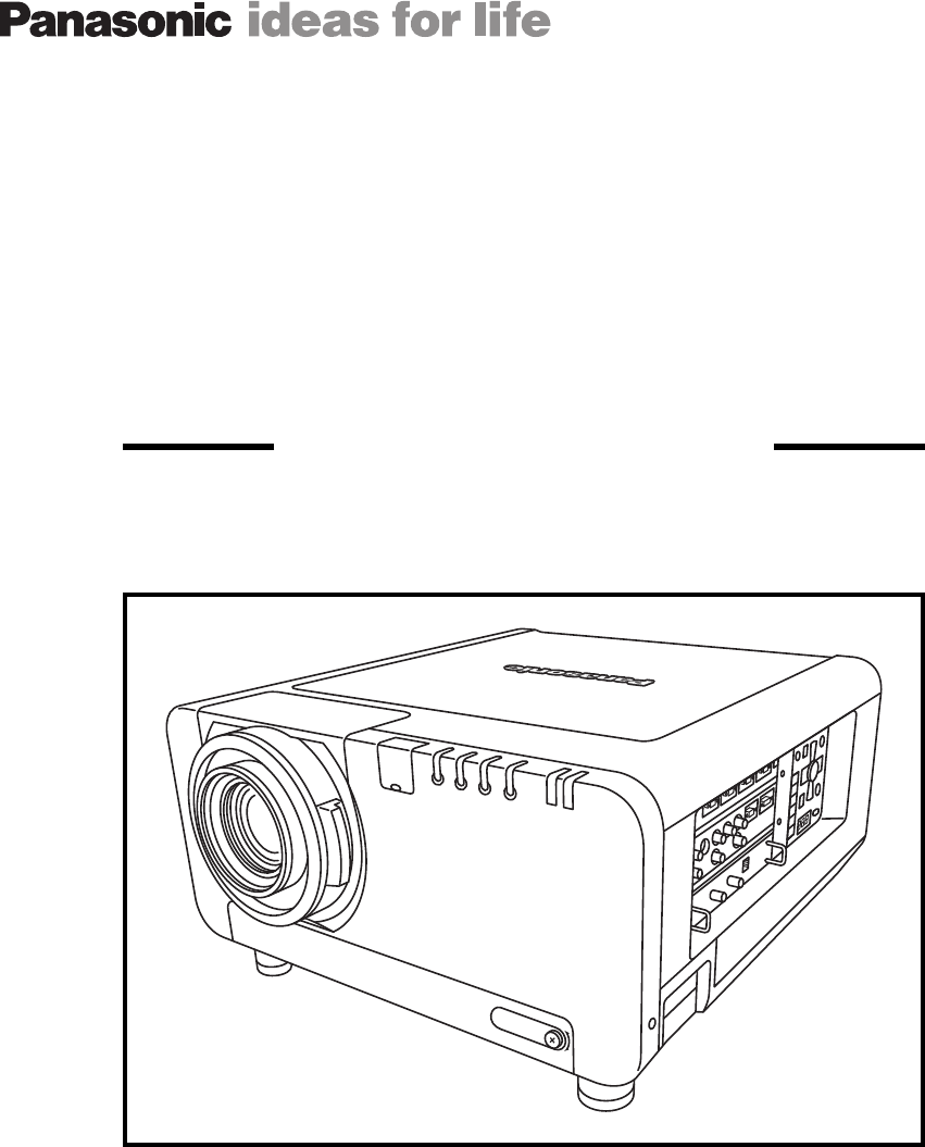 Panasonic Projection Television PT-D10000 User Guide