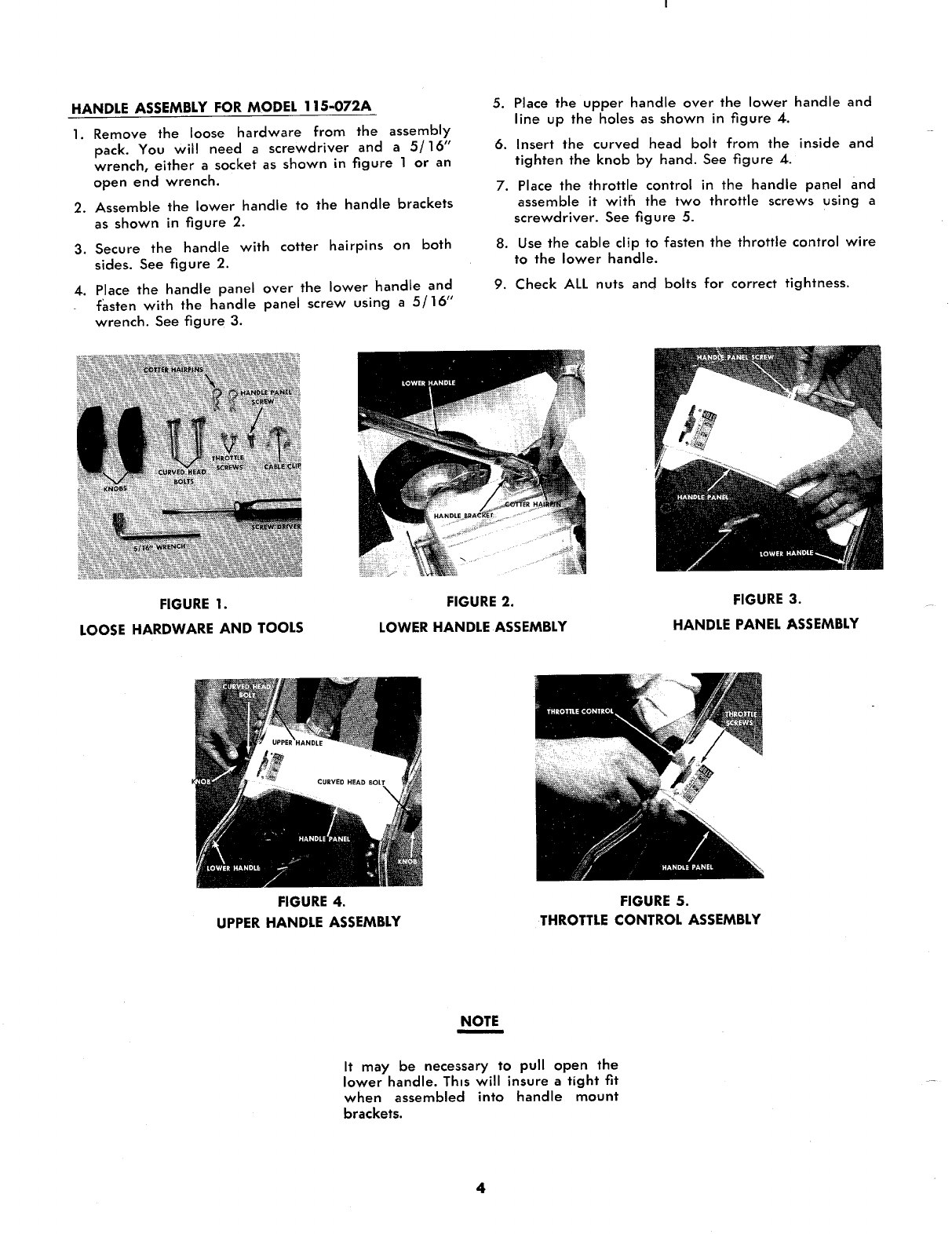 Page 4 of MTD Lawn Mower 115-062A User Guide