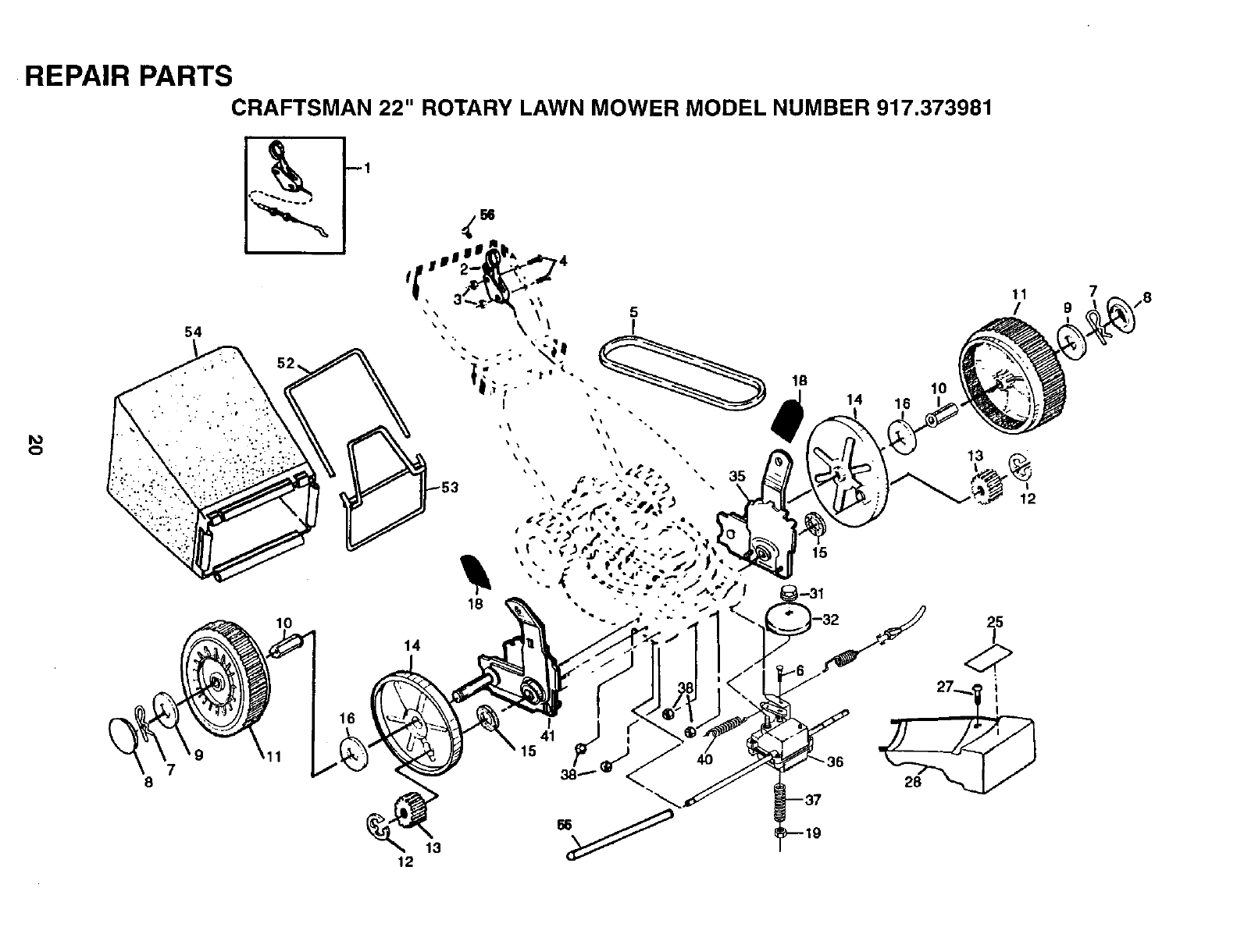 Page 20 of Sears Lawn Mower 917.373981 User Guide