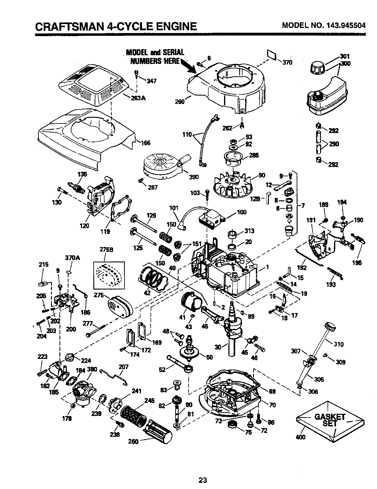 Page 23 of Sears Lawn Mower 917.373981 User Guide