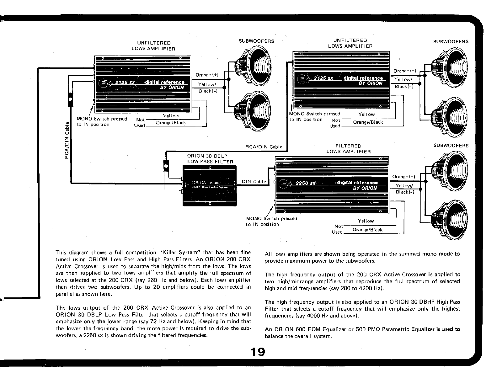 Page 19 of Orion Car Audio Car Amplifier 250SX User Guide
