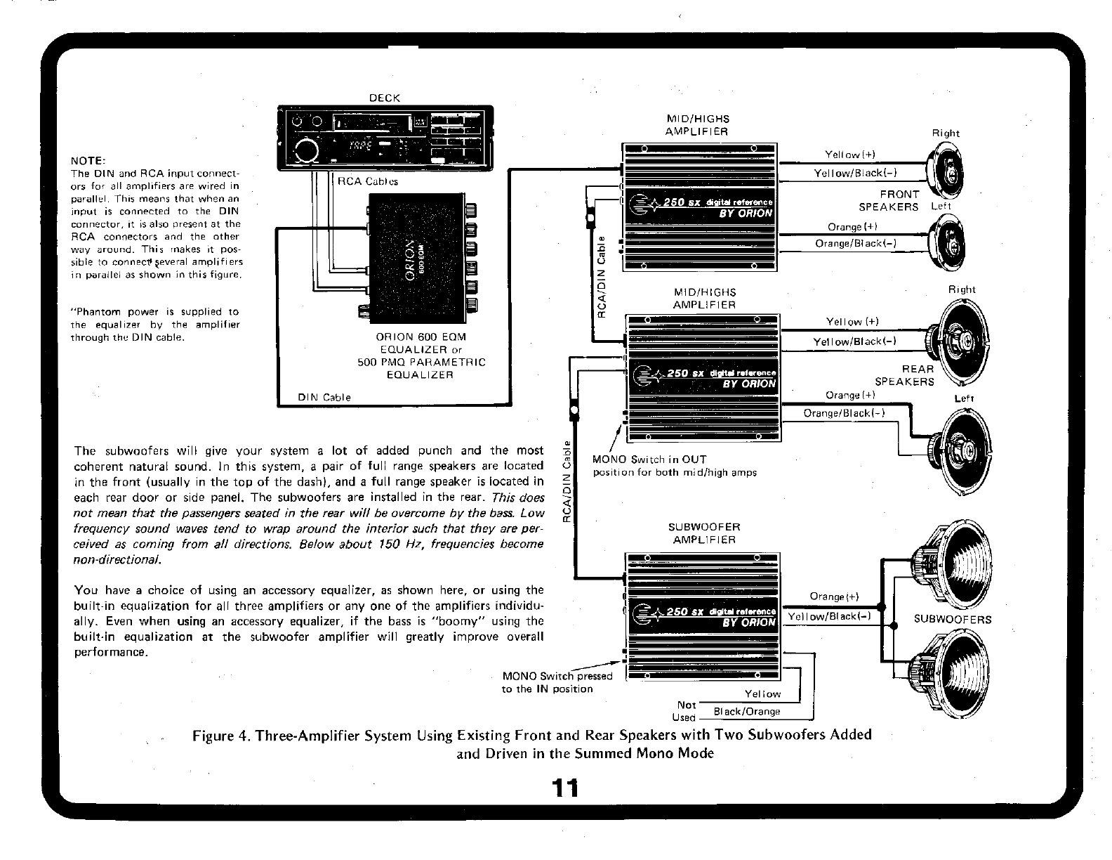 Page 11 of Orion Car Audio Car Amplifier 250SX User Guide