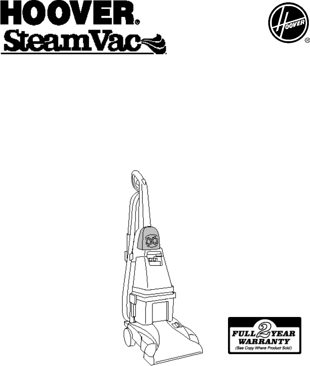 Hoover Spin Scrub Steam Cleaner Instructions