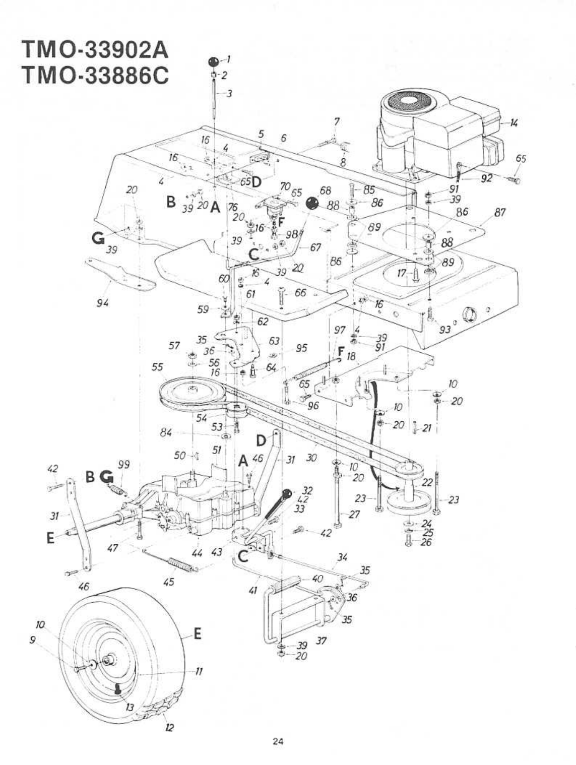 Page 20 of Montgomery Ward Lawn Mower TMO-33902A User