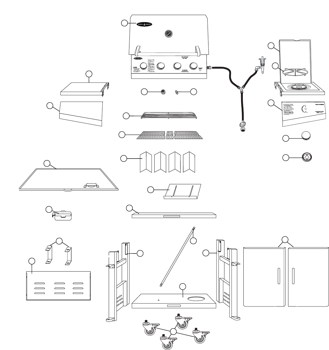 Page 23 of Brinkmann Gas Grill 810-4415-T User Guide