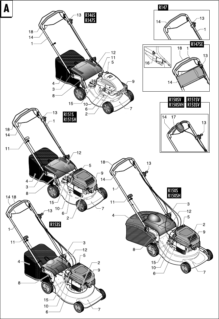 Page 124 of Husqvarna Lawn Mower R147S User Guide