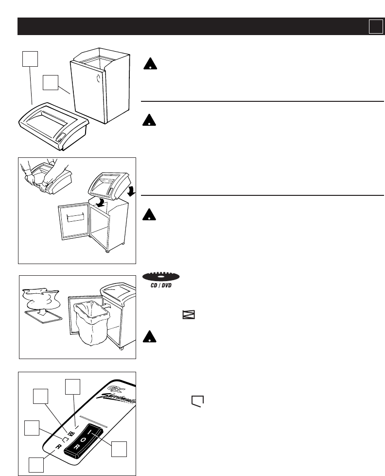 Page 3 of GBC Paper Shredder 3220S User Guide