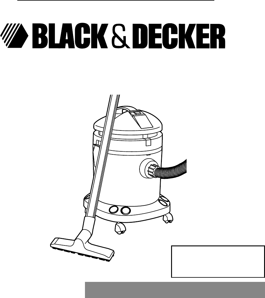 Black & Decker Vacuum Cleaner BEL3000A Series User Guide