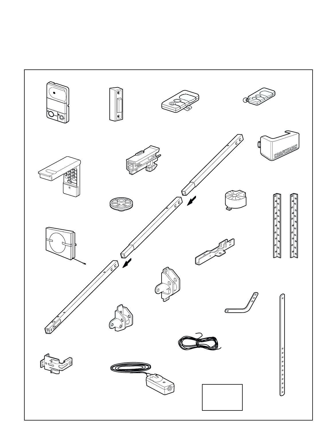 Page 44 of Sears Garage Door Opener 139.53960SRT User