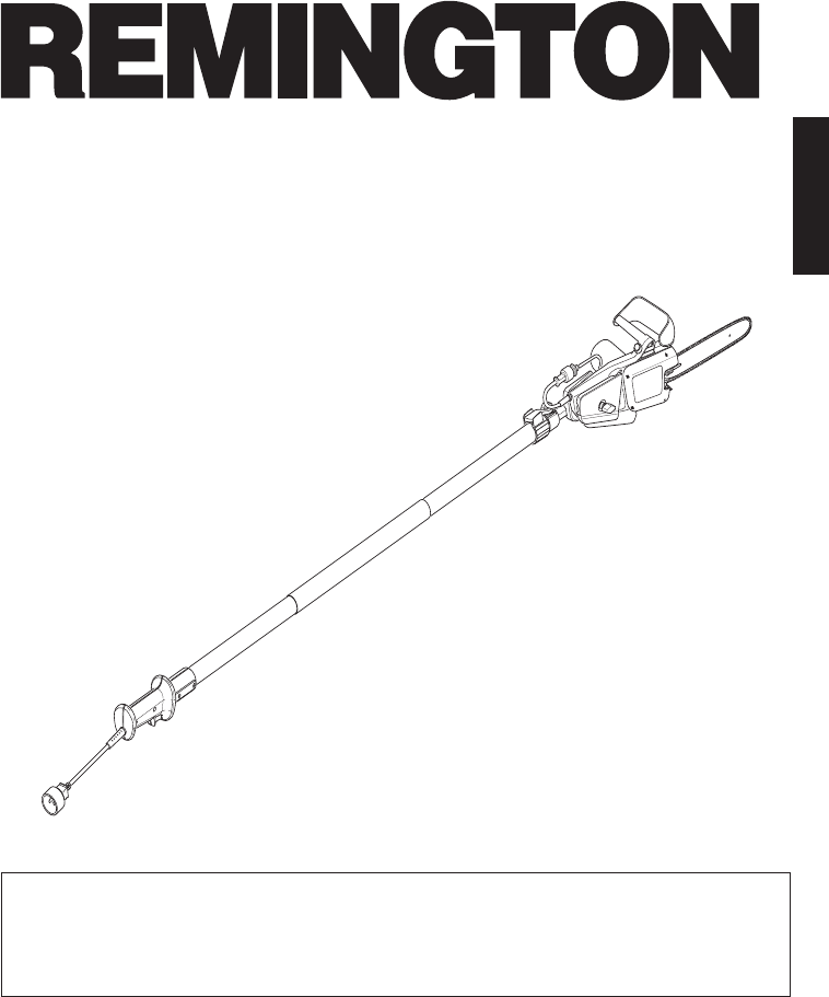 Remington Power Tools Pole Saw RM1015P User Guide