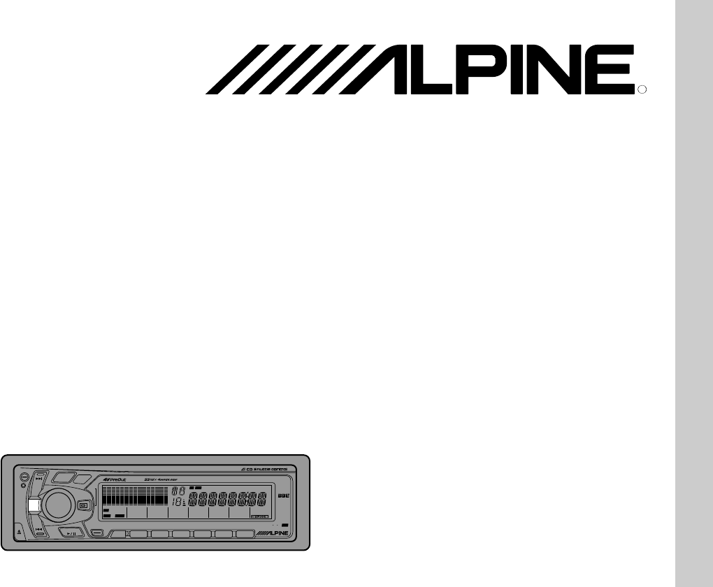 Alpine Car Stereo System CTA-1505R User Guide