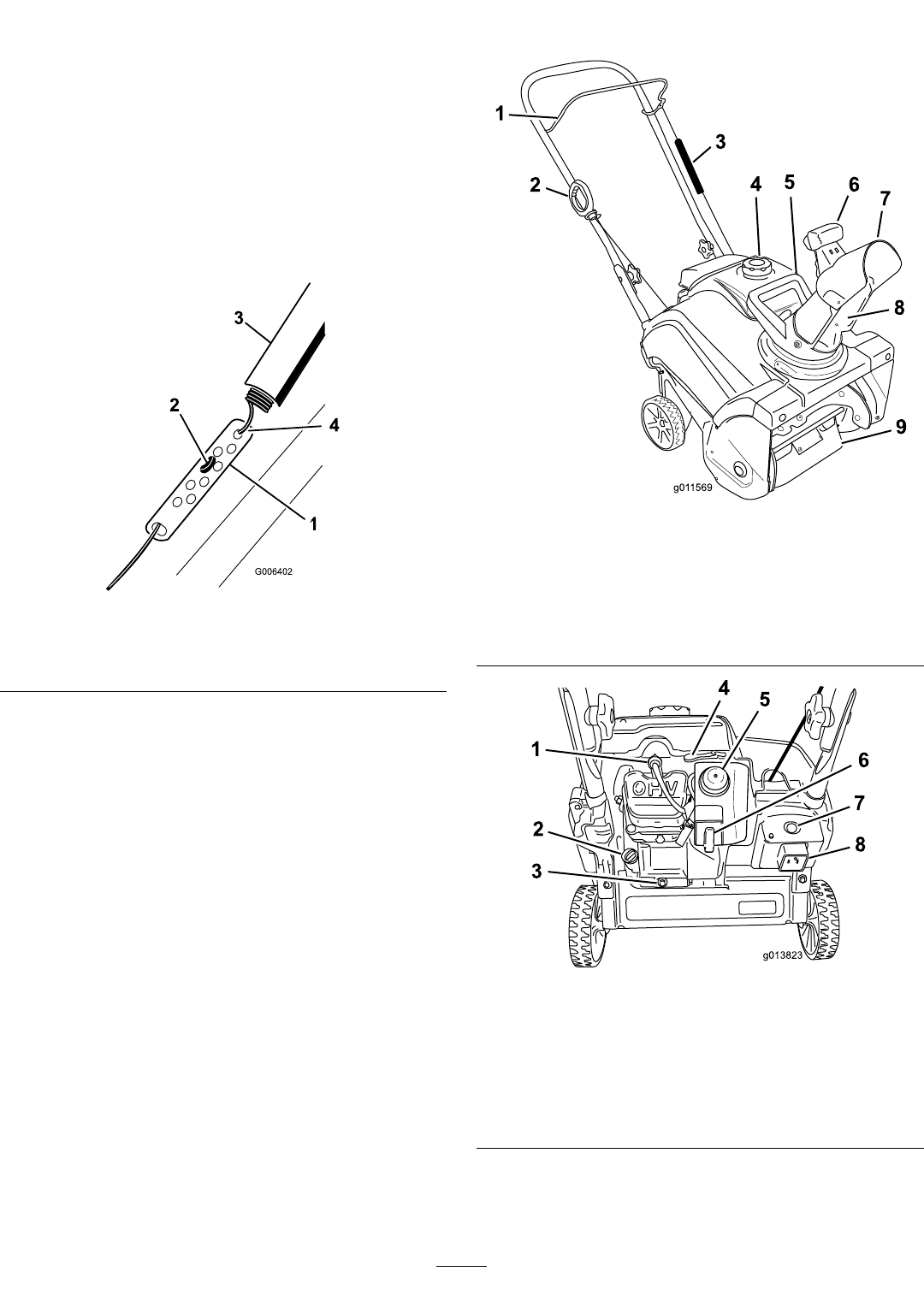 Page 8 of Toro Snow Blower 38272 User Guide