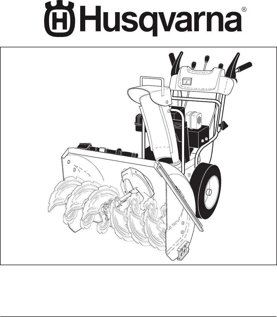 Husqvarna Snow Blower 10527SB-LS User Guide