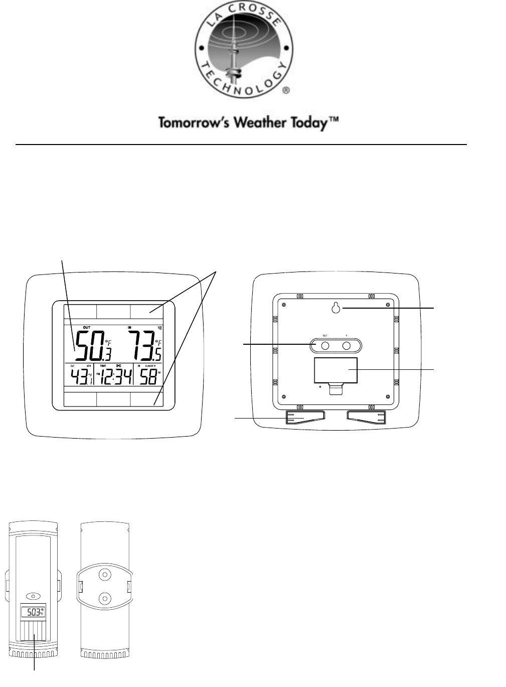 La Crosse Technology Weather Radio TX62U-IT User Guide