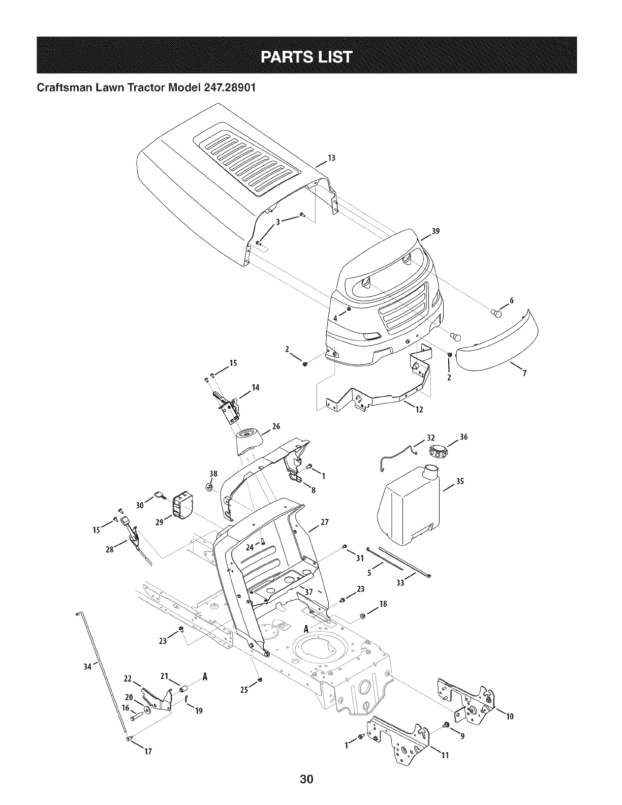 Page 30 of Craftsman Lawn Mower 247.28901 User Guide
