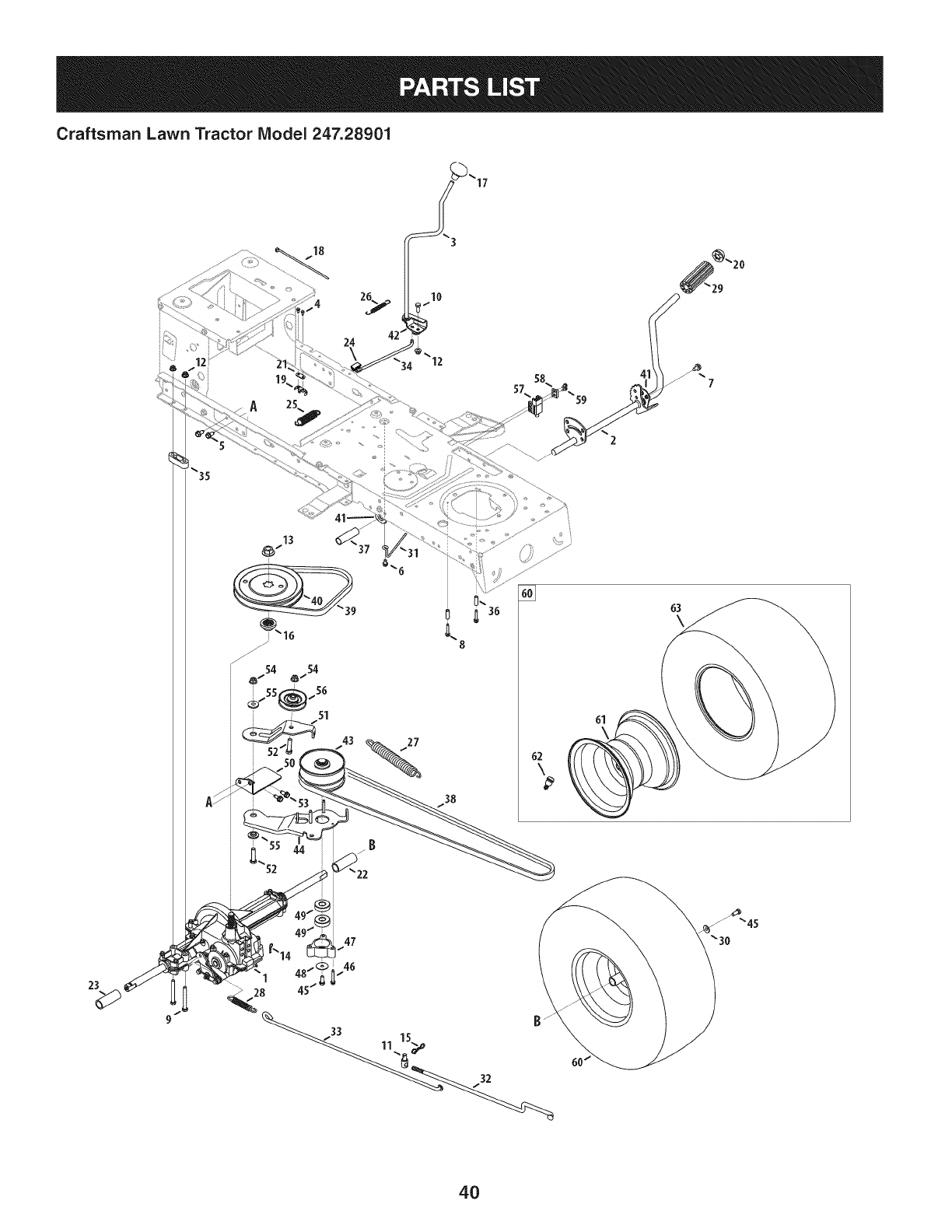 Page 40 of Craftsman Lawn Mower 247.28901 User Guide