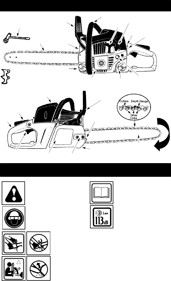 Page 2 of McCulloch Chainsaw MAC 838 User Guide