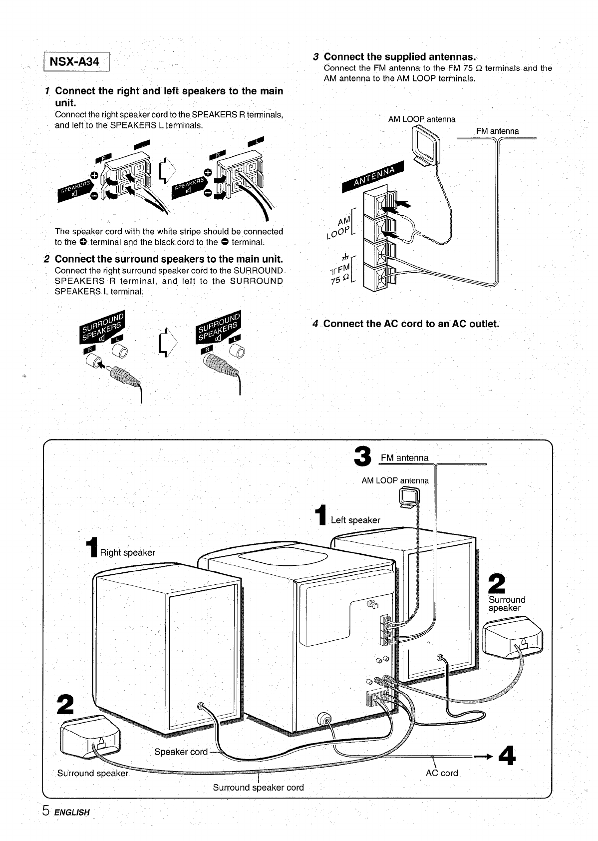 Page 6 of Aiwa Stereo System CX-NA31 User Guide