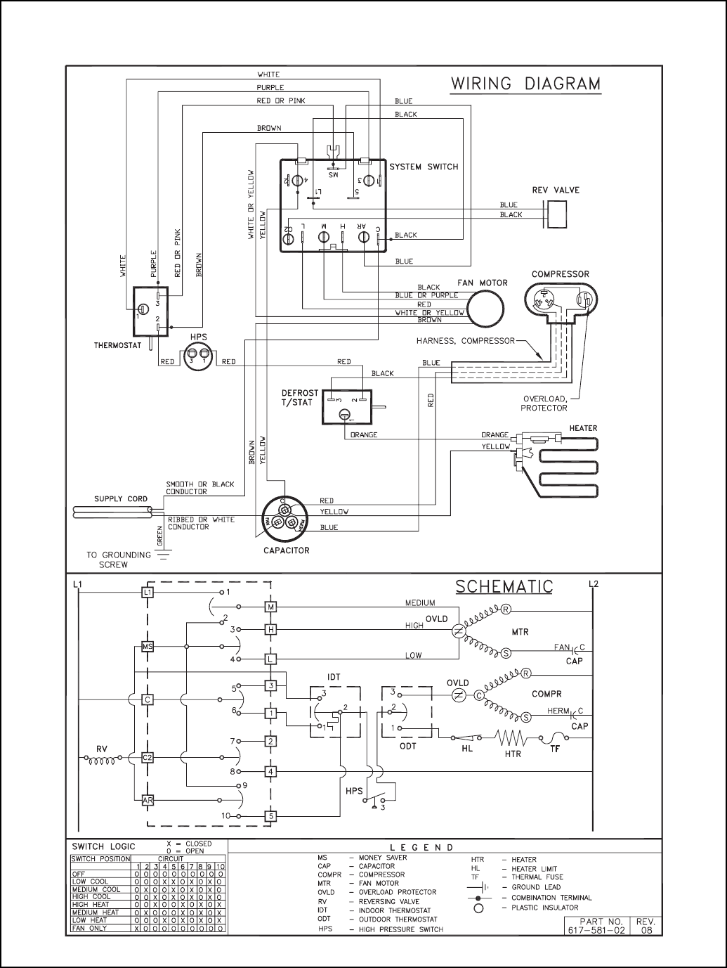 friedrich ac wiring diagram