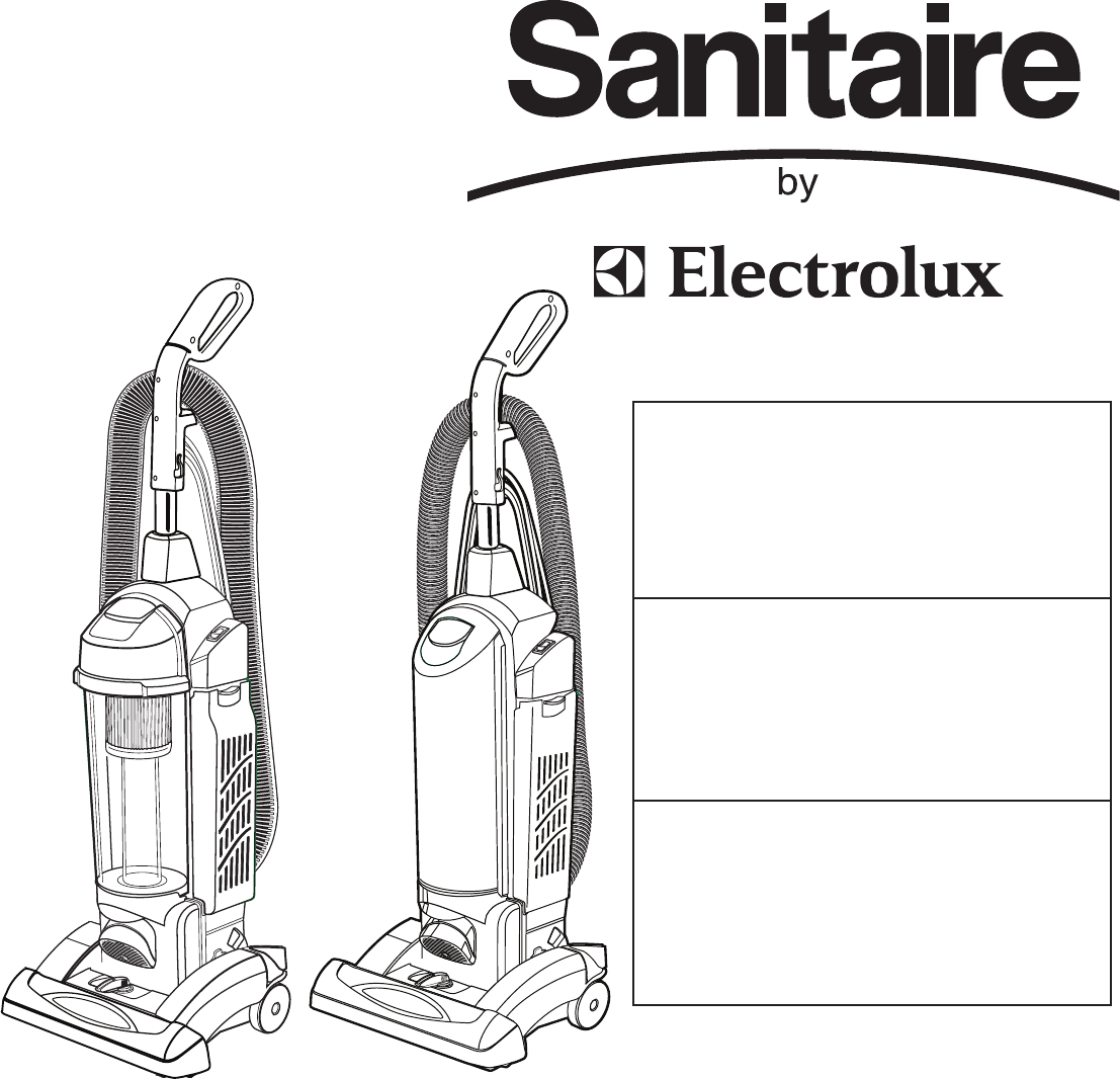 Electrolux Vacuum Cleaner SC5700/5800 SERIES User Guide