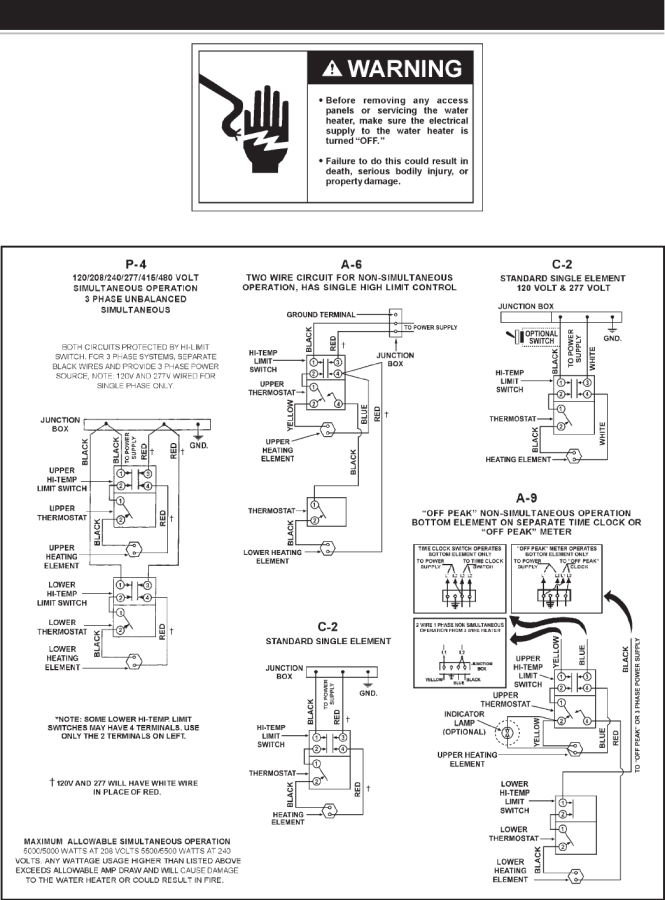 Ao Smith Wiring Diagram Water Heater Wiring Diagram – Water Heater Wiring Diagram