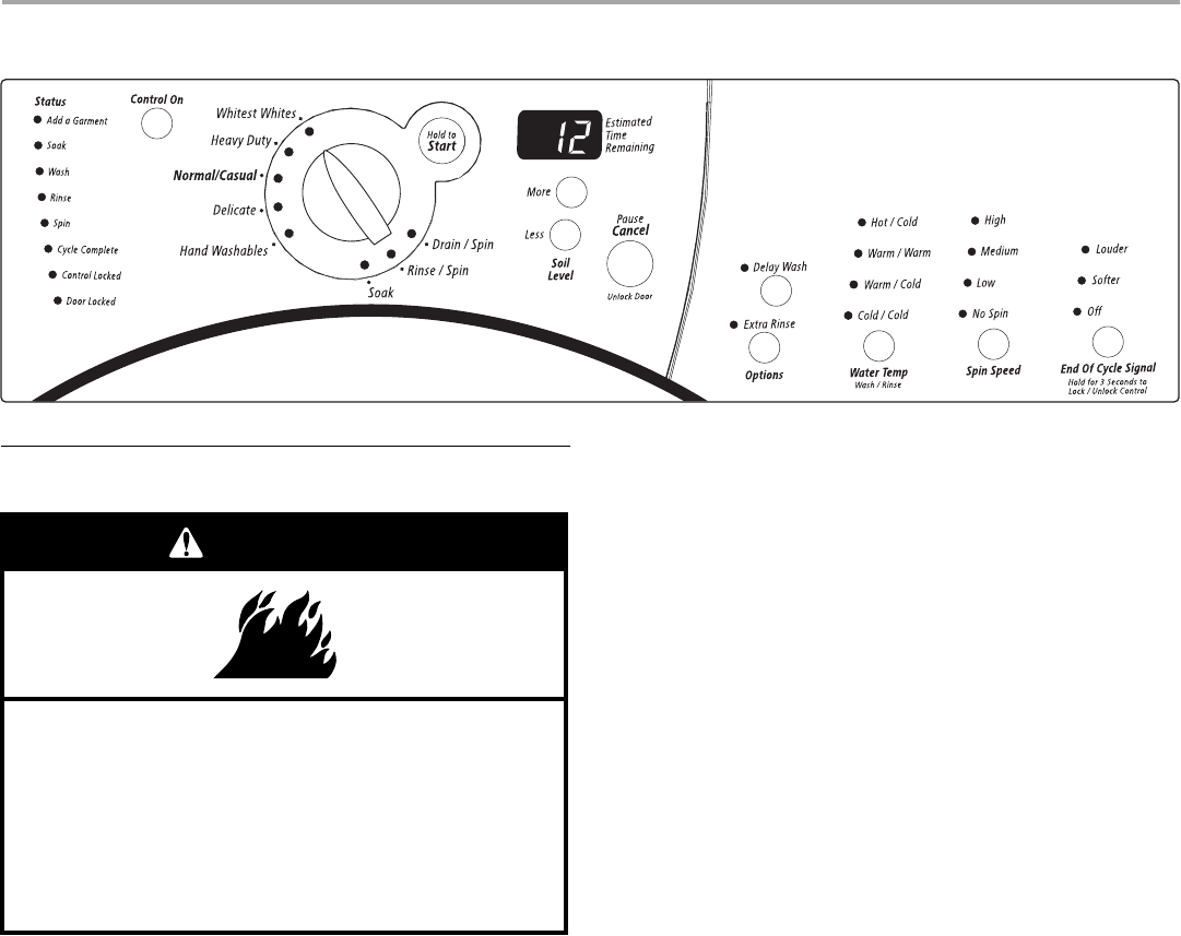 Page 11 of Whirlpool Washer Front-Load Washer User Guide