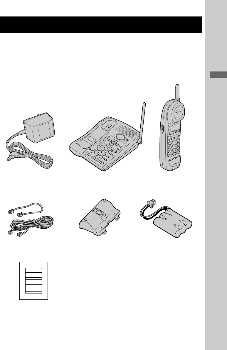 Page 7 of Sony Cordless Telephone SPP-A946 User Guide