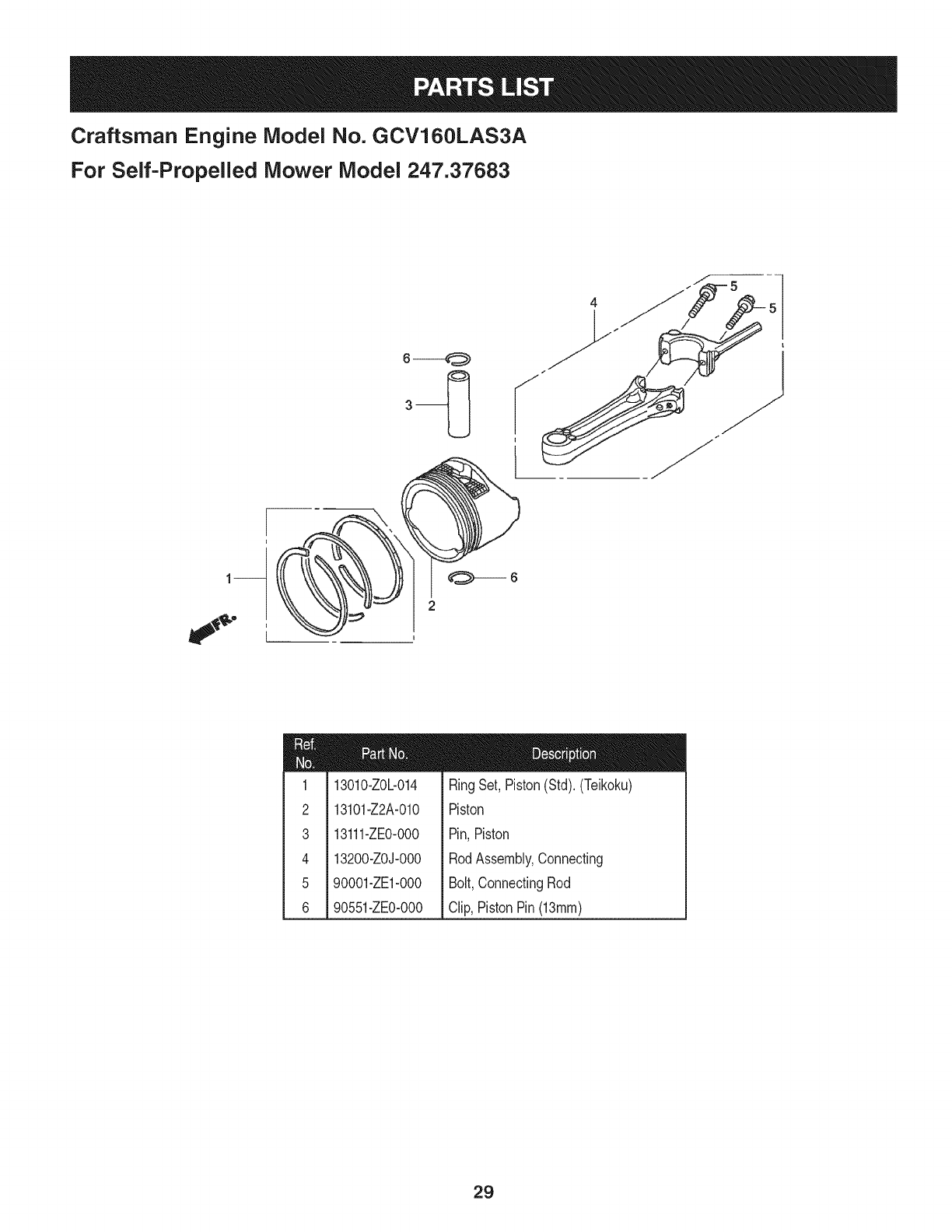 Page 29 of Craftsman Lawn Mower 247.37683 User Guide