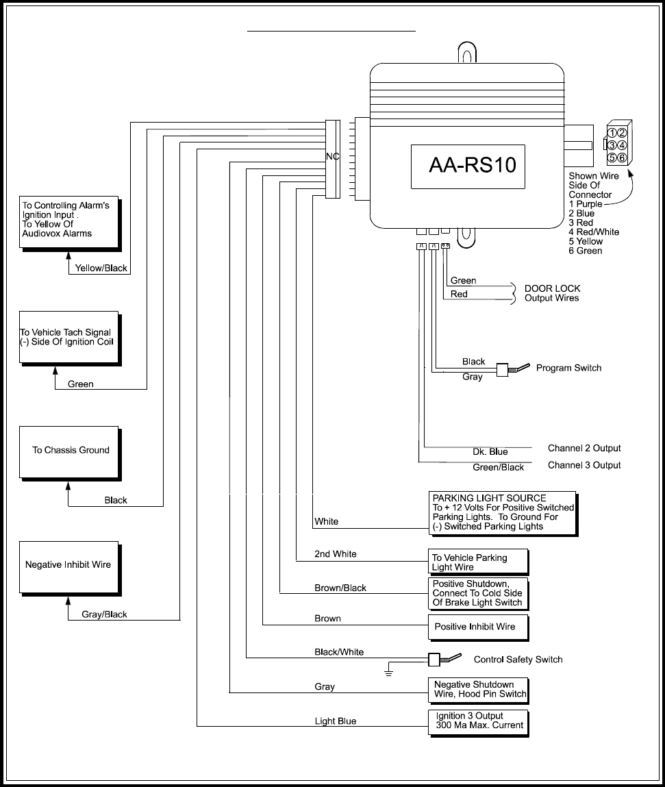 Page 16 Of Audiovox Remote Starter AA RS10CS User Guide
