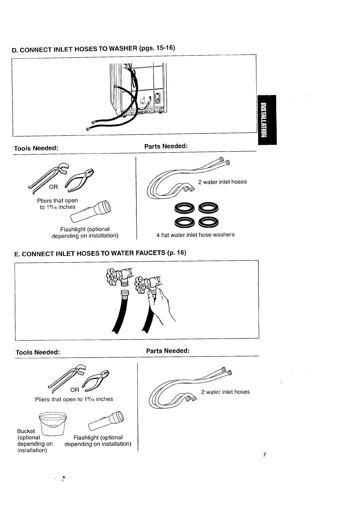 Page 7 of Kenmore Washer Automatic Washers User Guide