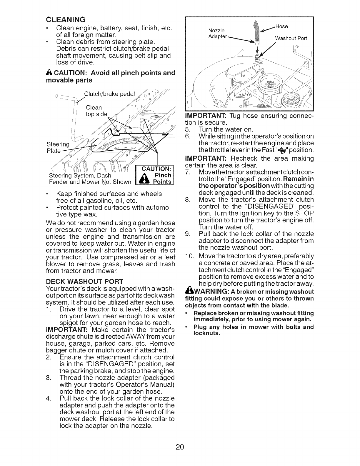 Page 20 of Craftsman Lawn Mower 917.289244 User Guide