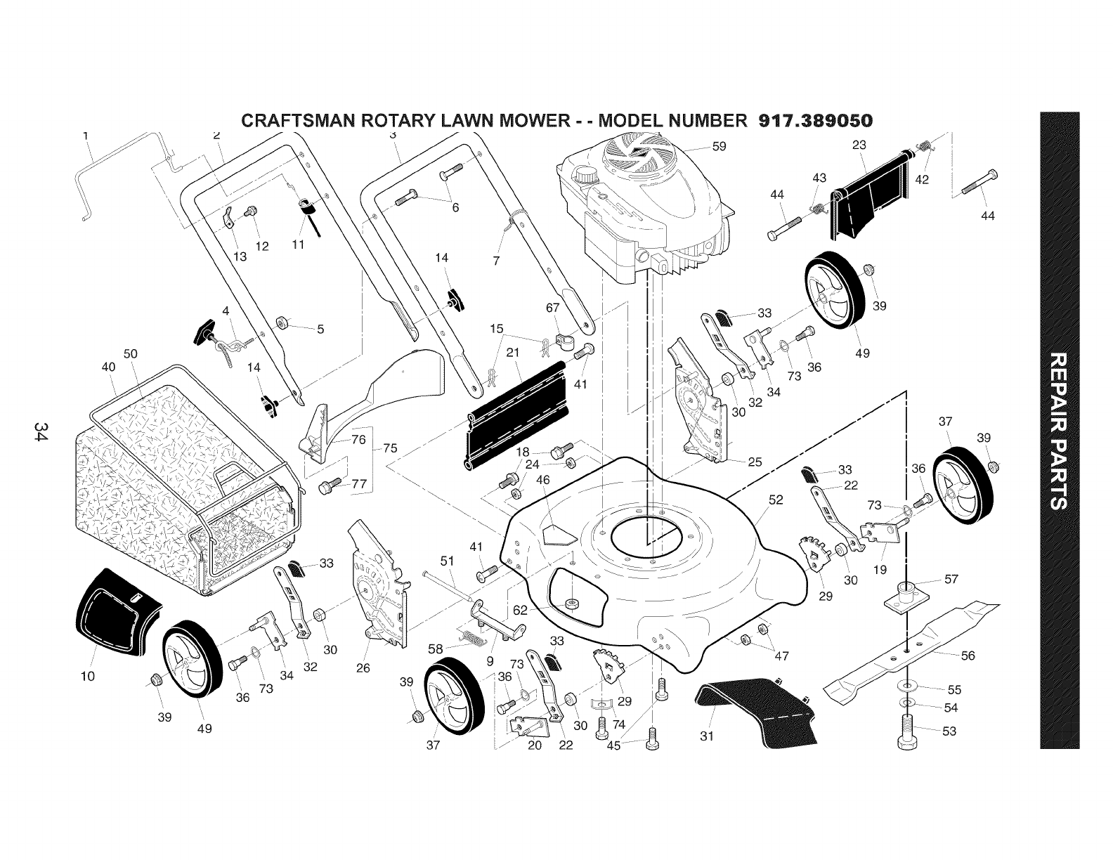 Page 34 of Craftsman Lawn Mower 38905 User Guide