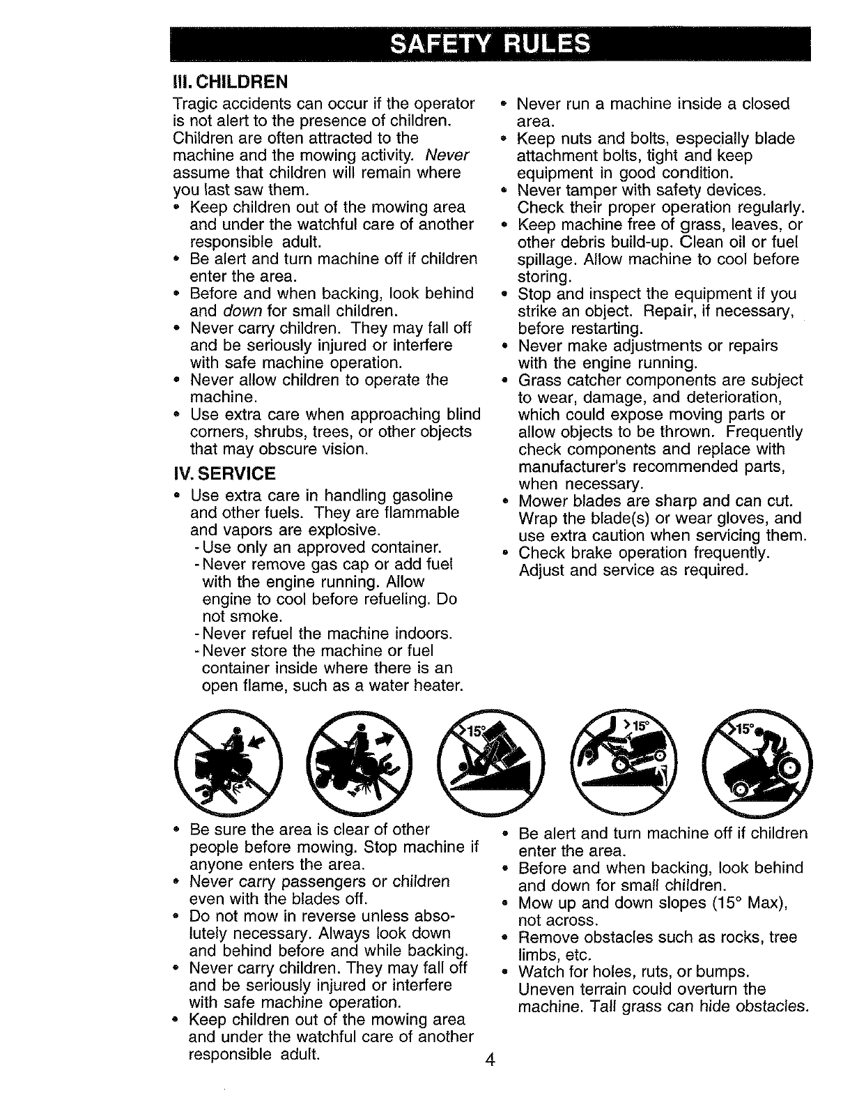 Page 4 of Craftsman Lawn Mower 917.273062 User Guide