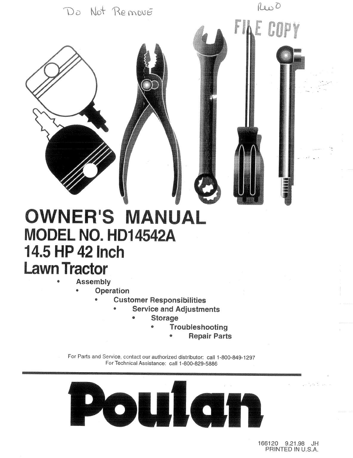 Poulan Lawn Mower User Guide