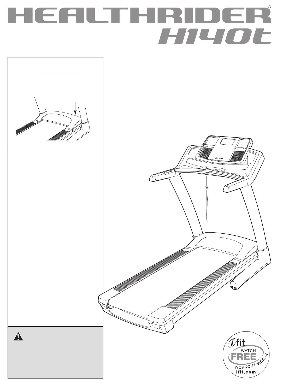 Healthrider Treadmill HRTL14508.0 User Guide