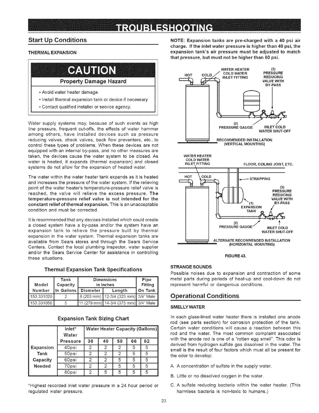Page 23 of Kenmore Water Heater 153.329264 38 GALLON SHORT