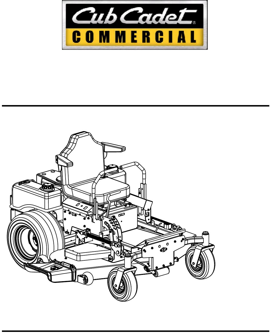 Cub Cadet Lawn Mower 60-inch & 72-inch Fabricated Deck
