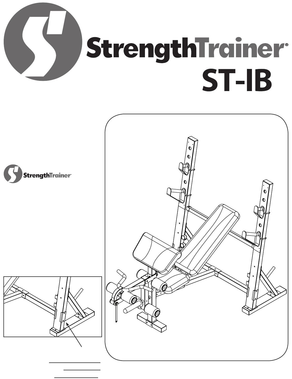Keys Fitness Fitness Equipment ST-IB User Guide