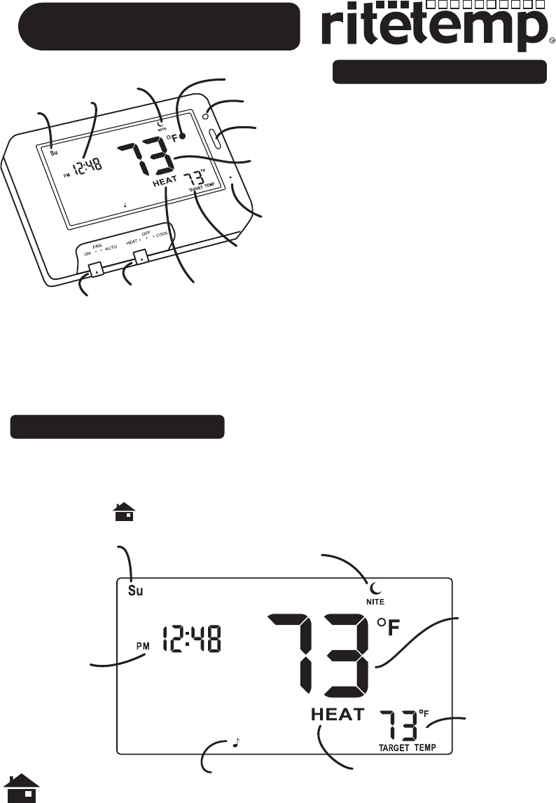 Page 2 of ritetemp Thermostat 8030C User Guide