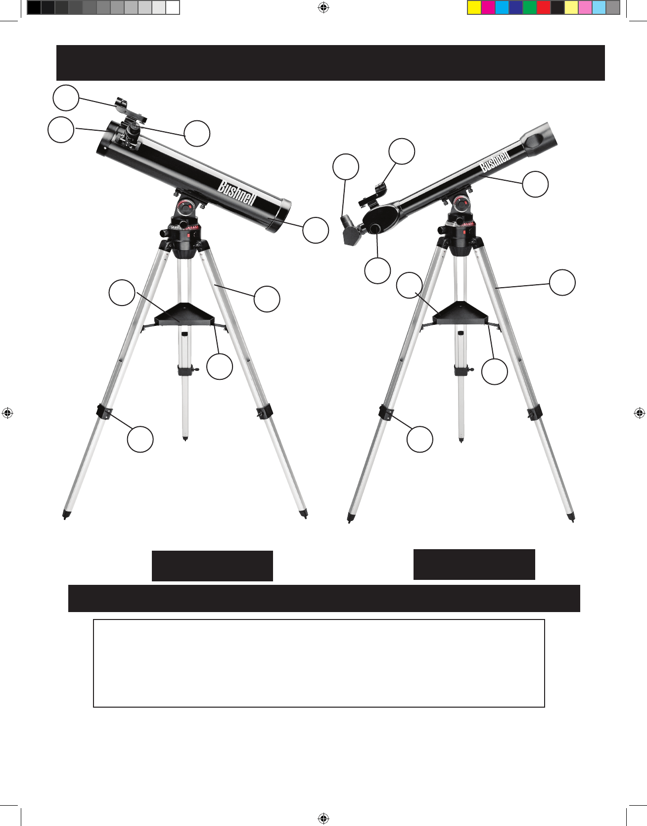Page 5 of Bushnell Telescope 78-9960 User Guide