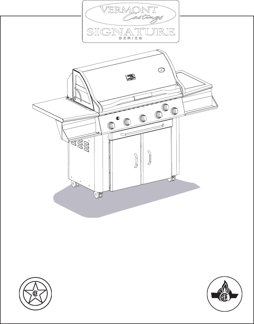 Vermont Casting Gas Grill VCS4005 User Guide