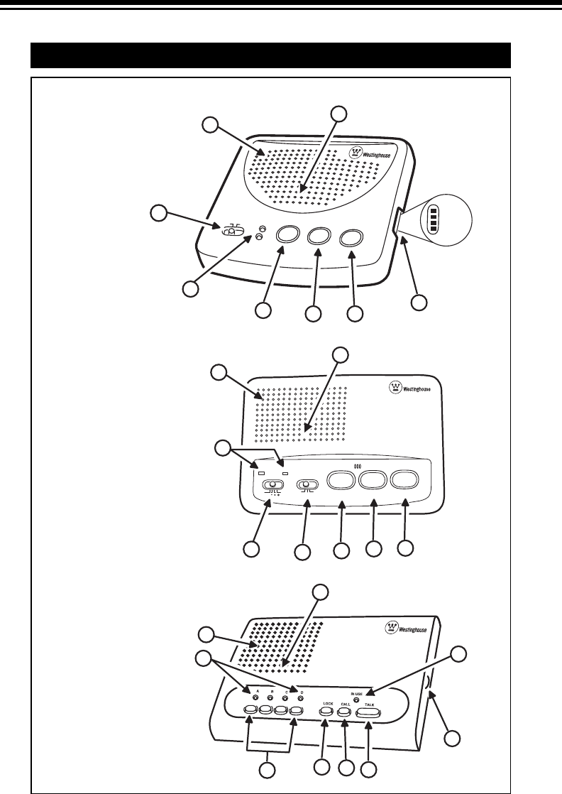 Page 6 of Westinghouse Intercom System WHI-4C User Guide