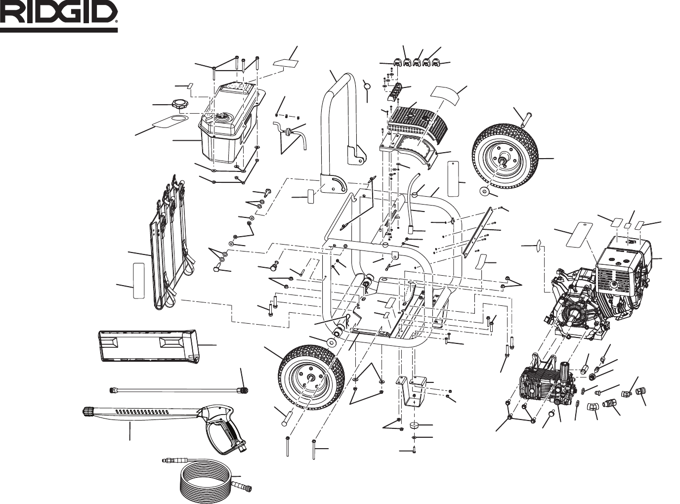 Page 2 of RIDGID Pressure Washer RD80770 User Guide