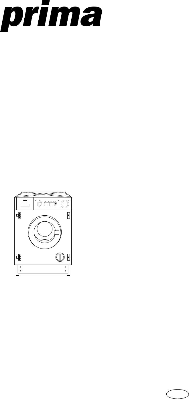 Prima Donna Designs Washer/Dryer LPR 720 User Guide