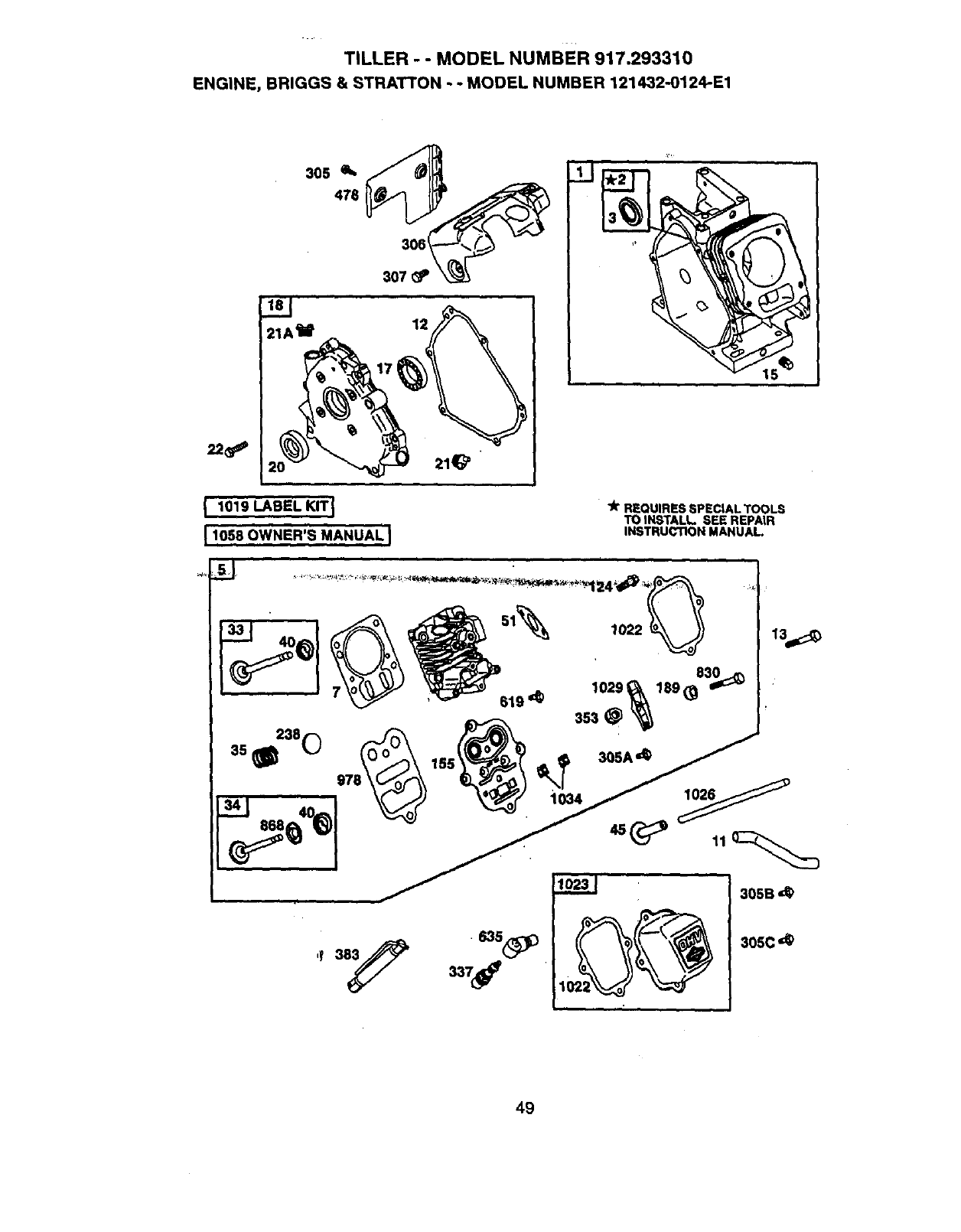Page 29 of Craftsman Tiller 917.29331 User Guide