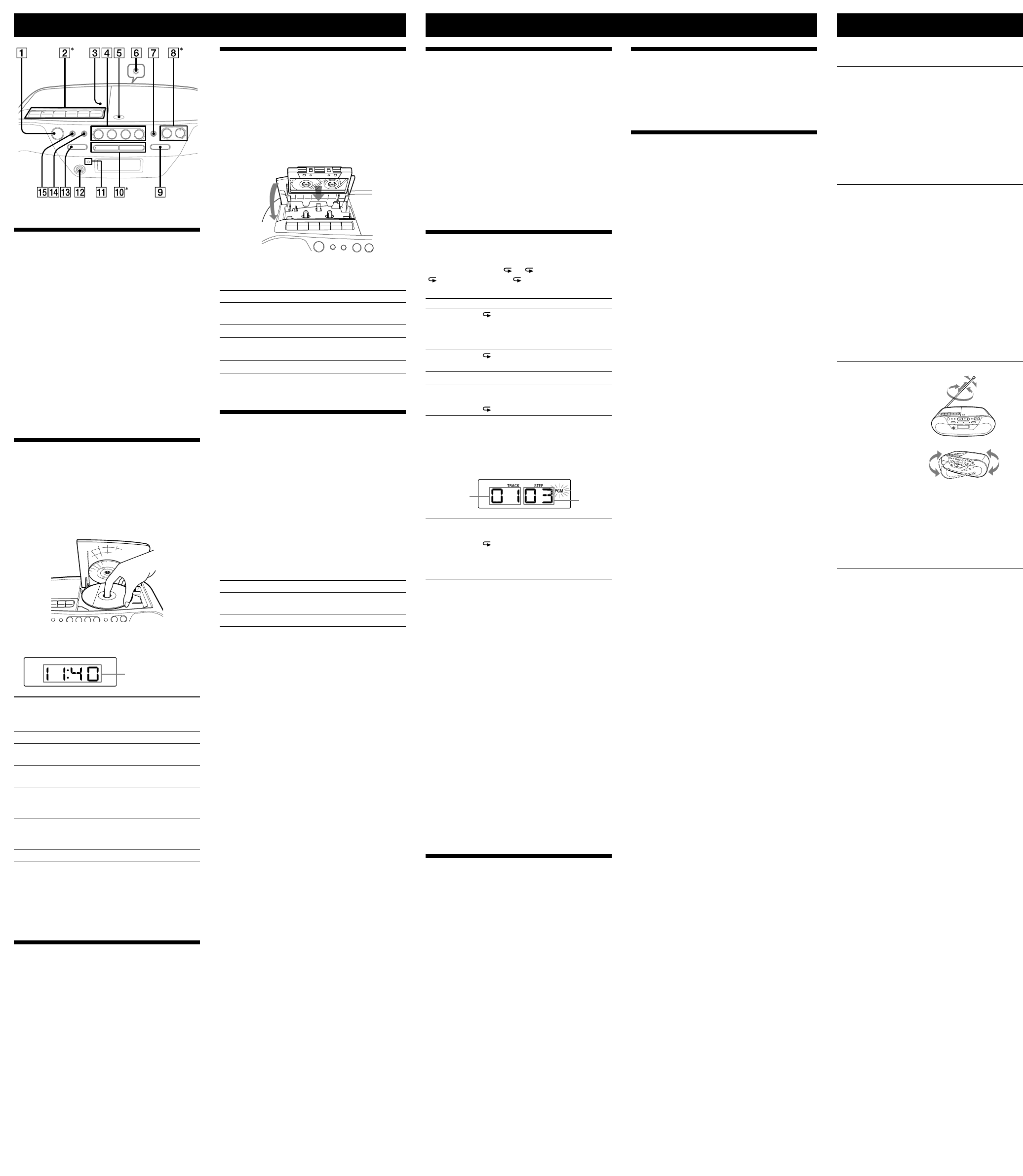 Page 2 of Sony CD Player CFD-S05 User Guide