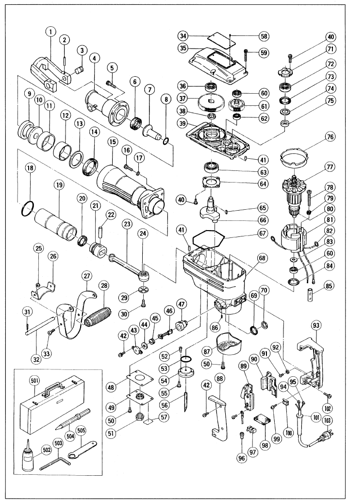 Page 11 of Hitachi Power Hammer H 65 User Guide